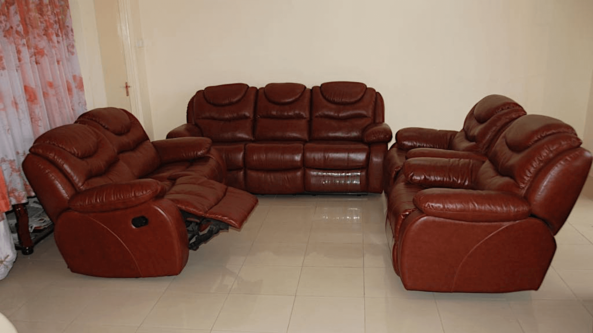 Awe Inspiring 7 Seat Pure Leather Brown Recliner Sofa Set Download Free Architecture Designs Grimeyleaguecom