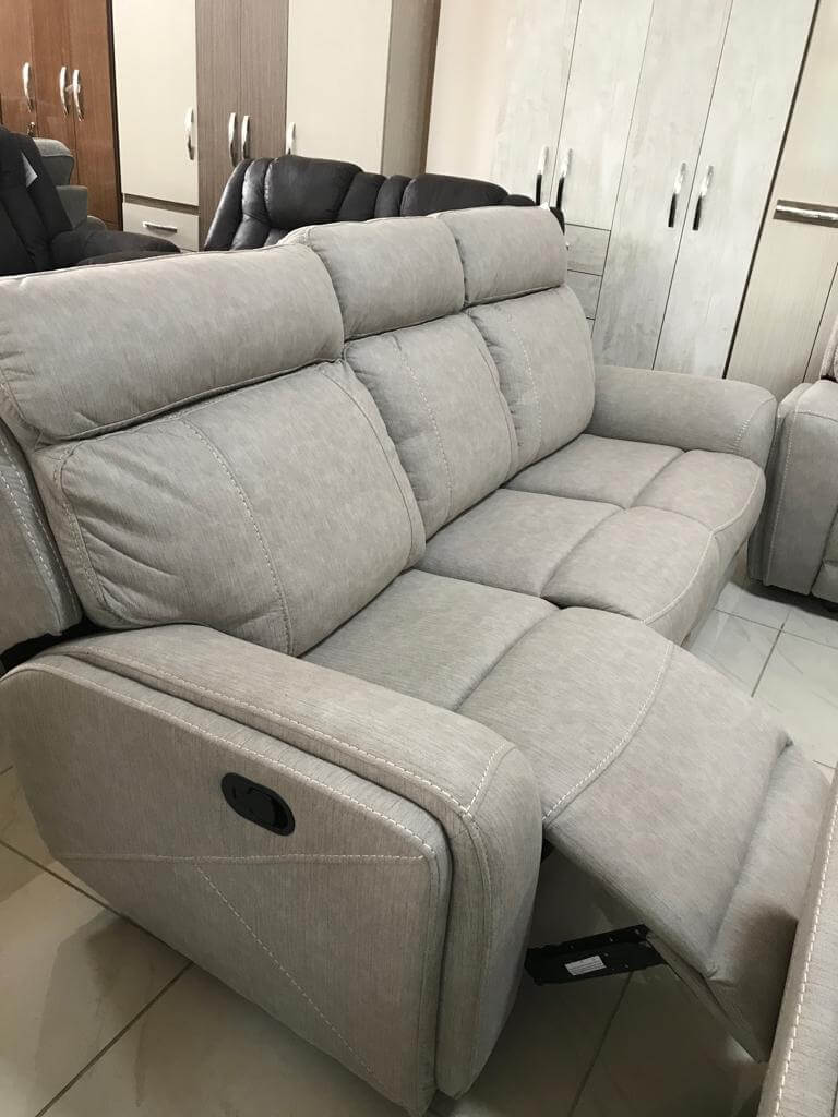 Tremendous 6 Seater Light Grey Rocking Recliners Sofa Set With Console Dailytribune Chair Design For Home Dailytribuneorg